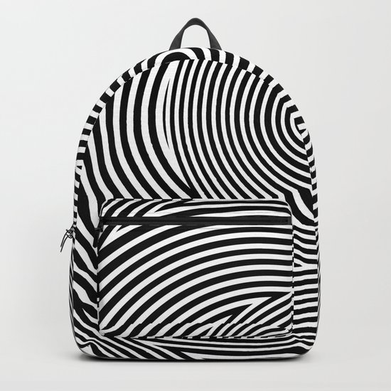 Black and White Dizzy Backpack
