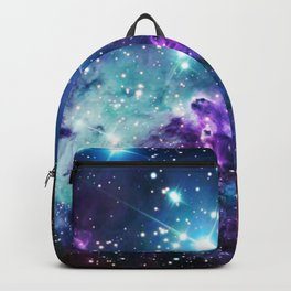 Fox Fur Nebula : Purple Teal Galaxy Backpack