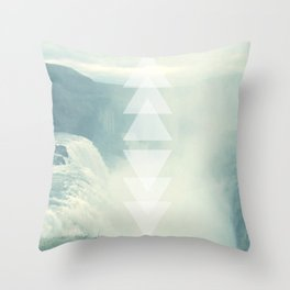 Geometric Waterfall (Western Sea) Throw Pillow