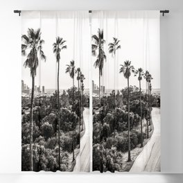 Los Angeles Black and White Blackout Curtain