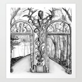 Bronx Zoo: Fordham Road Gate Art Print