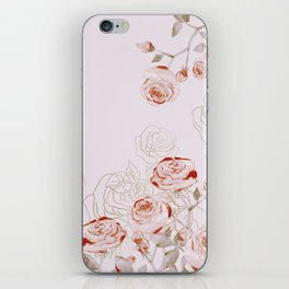 FRENCH PALE ROSES iPhone Skin
