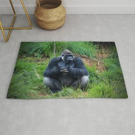 Gorilla Waiting For Lunch Rug