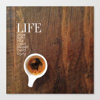 coffe Canvas Prints featuring Coffe Art by Christi