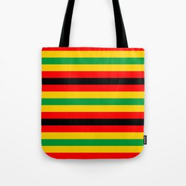 Zimbabwe flag stripes Tote Bag