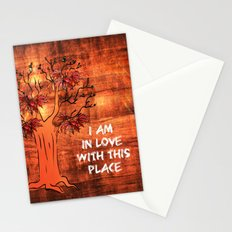 I Am In Love With This Place Stationery Cards