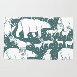Polar gathering (emerald) Rug