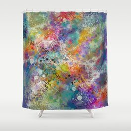 PAINT STAINED ABSTRACT Shower Curtain