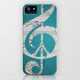 Music & Peace Aqua Sheets iPhone Case