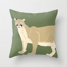 Carnivores of World: Cougar Pum(a) (c) 2017 Throw Pillow