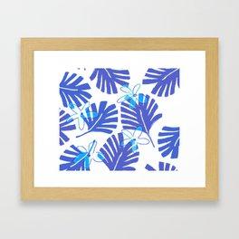 Blue Palm Framed Art Print