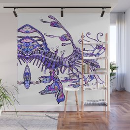 Leafy Seadragon II original illustration by Sheridon Rayment. Wall Mural