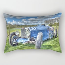 Grand Prix Vintage Sports car Rectangular Pillow