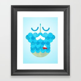 The Bearded Sea Framed Art Print