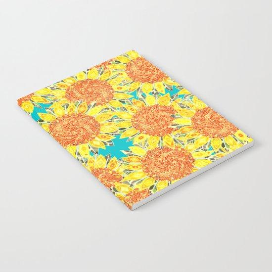 sunflower field Notebook