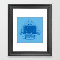 Brain eater Framed Art Print
