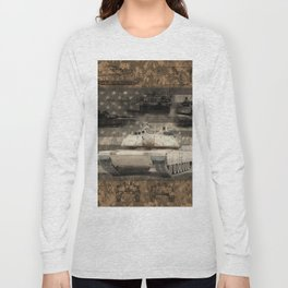 Abrams Main Battle Tank Long Sleeve T-shirt