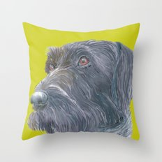 Pointer printed from an original painting by Jiri Bures Throw Pillow