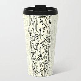 Curves And Lines Travel Mug