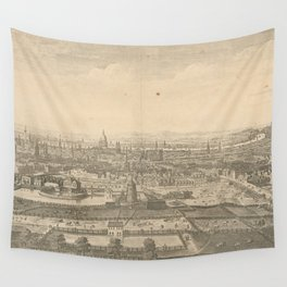 Vintage Pictorial Map of London England (1750) Wall Tapestry