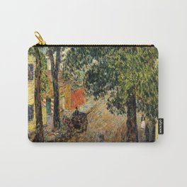 Classical Masterpiece 'Duke Street, Newport, Rhode Island' by Frederick Childe Hassam Carry-All Pouch