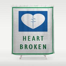Heart Broken Shower Curtain