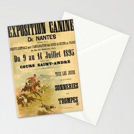 retro exposition canine de nantes. 1895 Stationery Cards