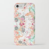 flamingos iPhone & iPod Cases featuring FlAmINGOS by Monika Strigel