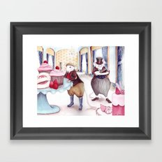 Jellies and Cakes - The Town Mouse and the Counrty Mouse - Aesop's Fables Framed Art Print