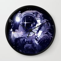 astronaut Wall Clocks featuring ASTRONAUT. by capricorn