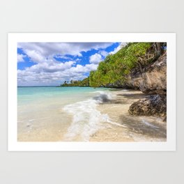 White sand Easo beach, Lifou, New Caledonia, South Pacific Art Print