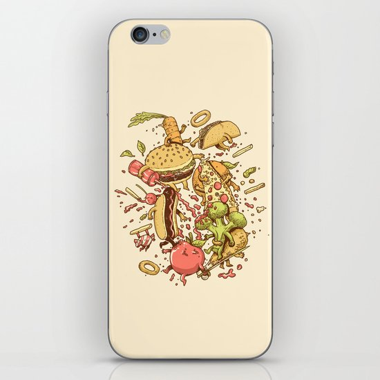 Food Fight iPhone Skin