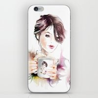 cup iPhone & iPod Skins featuring cup by tatiana-teni