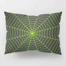 Neon green spider web Pillow Sham