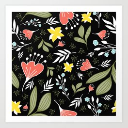 Spring Flowers Style Q Art Print