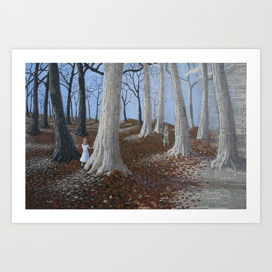 entering a paper world Art Print