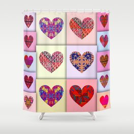 16 degrees of love Shower Curtain