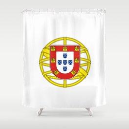 Portuguese Flag (Bandeira Portuguesa) Shower Curtain