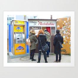 Old photo booth in Berlin (Photokabine) Art Print