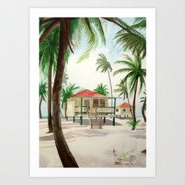 Sanibel Island Cottage Art Print