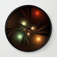 the lights Wall Clocks featuring Lights by Klara Acel