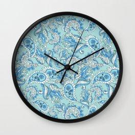 Blue Paisley Wall Clock