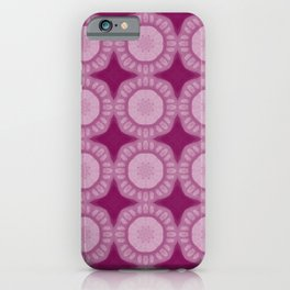 Boho Shaby Chic Flowers Vibrant Deep Wine iPhone Case