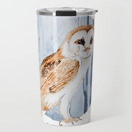 Forest Barn Owl Travel Mug