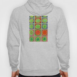 Green Grid filled with Circles and intense Colors Hoody