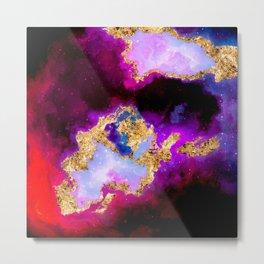 100 Starry Nebulas in Space 096 (Square) Metal Print