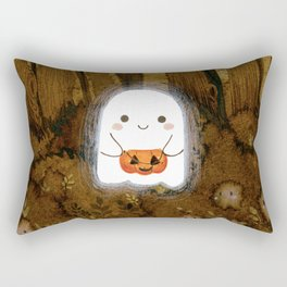 Little ghost and pumpkin Rectangular Pillow