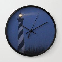 Cape Hatteras at night Wall Clock