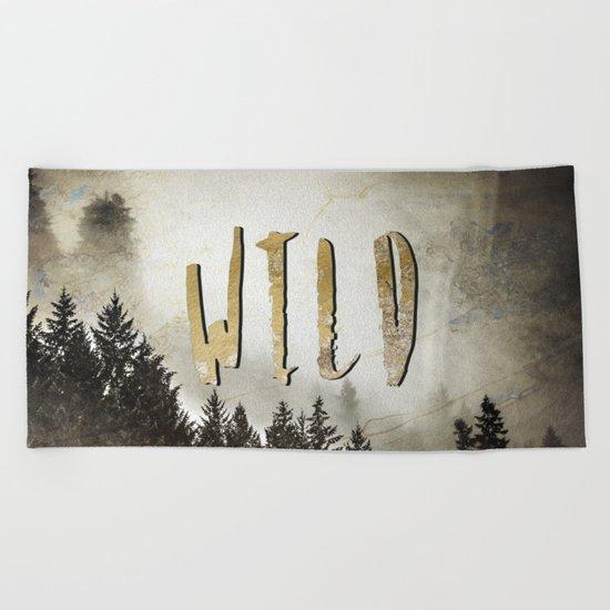 Wild Gold Forest Beach Towel