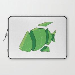 Illustration of a 3D Paper Craft Fish Model Laptop Sleeve